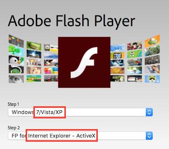 adobe flash player active x update